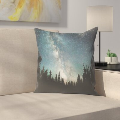 Luke Gram Stars Over the Forest lll Throw Pillow Size: 14 x 14