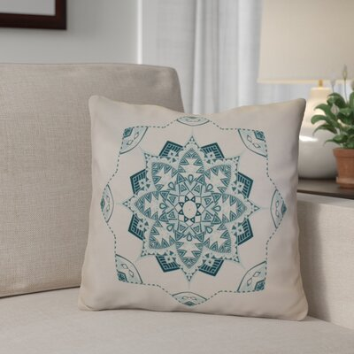 Aneesh Outdoor Throw Pillow Size: 18 H x 18 W, Color: Teal