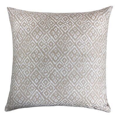 Findley Diamond Indoor/Outdoor Throw Pillow Color: Ivory