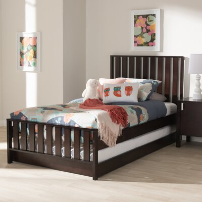 Dolph Twin Platform Bed Color: Dark Brown