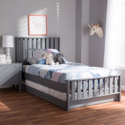 Dolph Twin Platform Bed Color: Gray