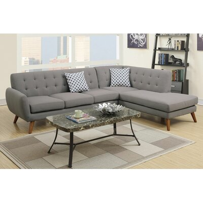 Cowans Reversible Sectional Upholstery: Gray