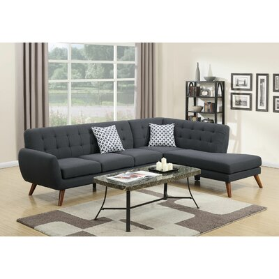 Cowans Reversible Sectional Upholstery: Ash Black