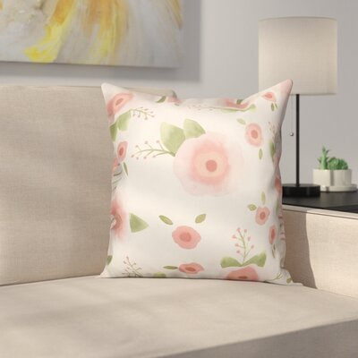 Marc Watercolor Florals Throw Pillow