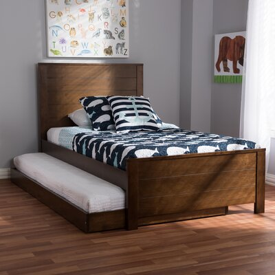 Garrard Twin Platform Bed Color: Brown