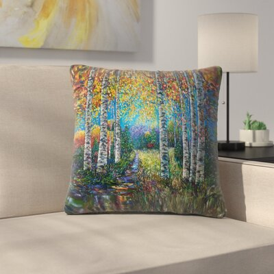Olena Art Palette Knife Lena Throw Pillow Size: 14 x 14