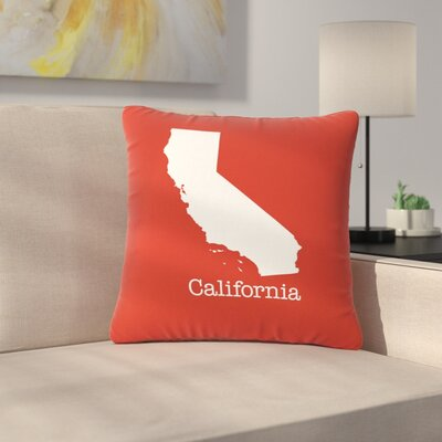 Bruce Stanfield California State Outdoor Throw Pillow Size: 18 H x 18 W x 5 D