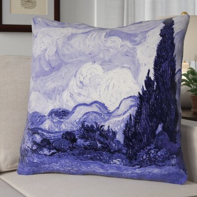Bristol Woods Wheat Field Throw Pillow Size: 40 H x 40 W, Color: Purple