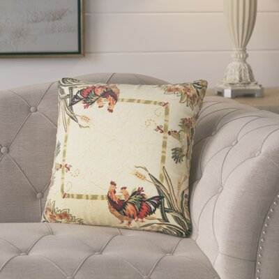 Andersonville Throw Pillow Color: Cream/Green/Tan