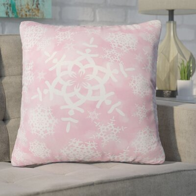 Cruce Snow Flurries Throw Pillow Size: Large, Color: Pink