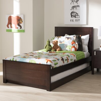 Garrard Twin Platform Bed Color: Dark Brown