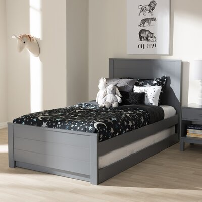 Garrard Twin Platform Bed Color: Gray