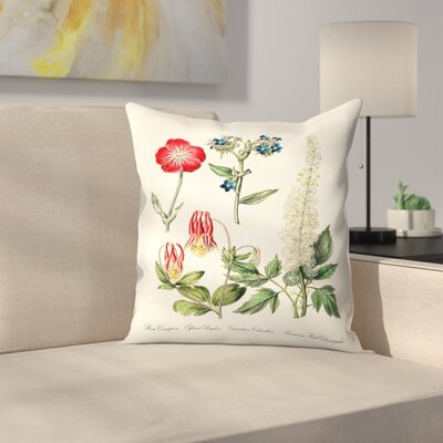 Rose Campion Throw Pillow Size: 18