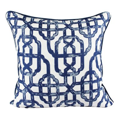 Fairchild Geometric Indoor/Outdoor Throw Pillow Color: Blue