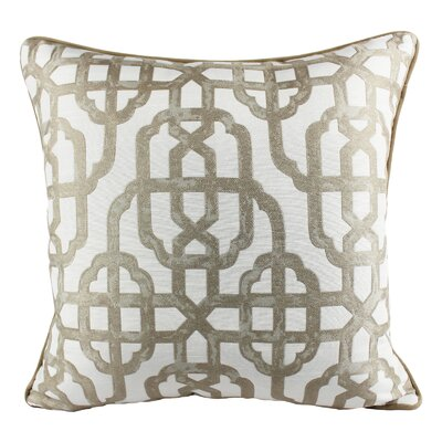 Fairchild Geometric Indoor/Outdoor Throw Pillow Color: Ivory