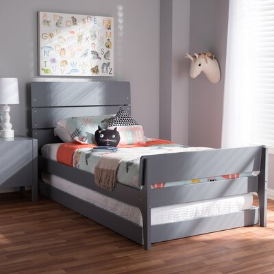 Albali Twin Platform Bed Color: Gray