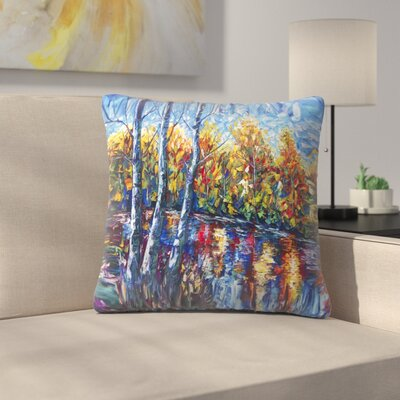 Olena Art Dreaming Forest Throw Pillow Size: 18