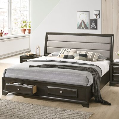 Engelman Upholstered Storage Sleigh Bed Size: King
