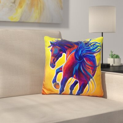 Horse Kick Up Your Heels Throw Pillow