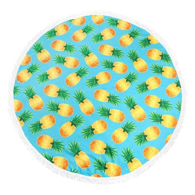 Holton Pineapple Round Fringe Beach Towel