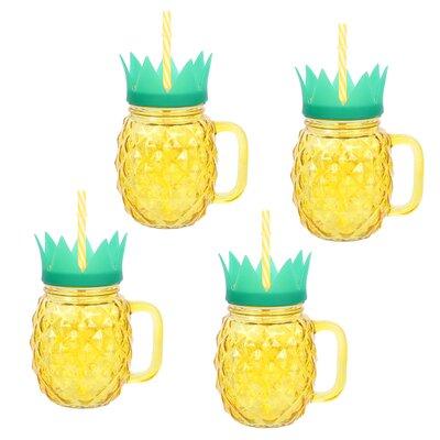 Holton Pineapple 17 oz. Glass Travel Tumbler 562E1176D41240209535D0B46EAF9BDF