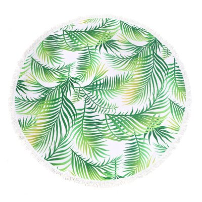 Pinedale Palm Leaf Round Fringe Beach Towel