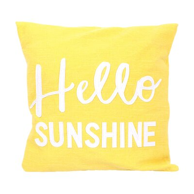 Diem Hello Sunshine Cotton Throw Pillow