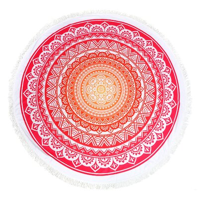 Medallion Round Fringe Beach Towel