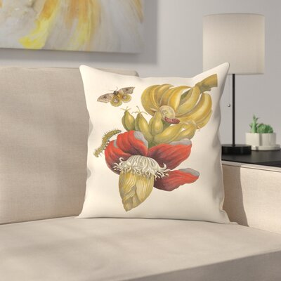 Bananas Throw Pillow Size: 20 x 20