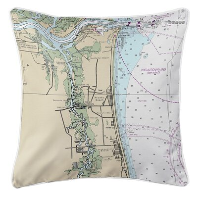 Eberhard Atlantic Beach FL Nautical Chart Throw Pillow