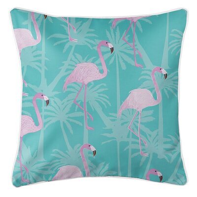Isherwood Flamingos Throw Pillow Pillow Cover Color: Blue