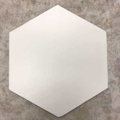 Solid Hex 8 x 8 Cement Field Tile in White