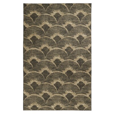 Beykoy Art Of The Fan Gray/Taupe Area Rug Rug Size: Rectangle 5 x 8