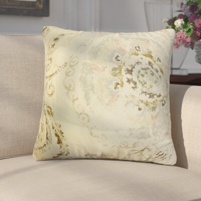 Laurenza Floral Linen Throw Pillow Color: Yellow