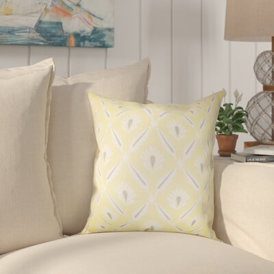 Deveal Geometric Cotton Throw Pillow Color: Lemon, Size: 18 x 18
