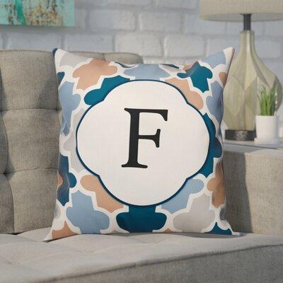 Comstock Monogram Throw Pillow Letter: F