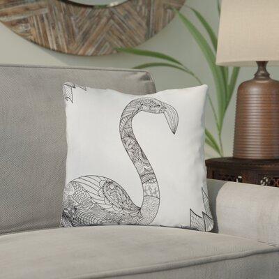 Chew Magna Flamingo Throw Pillow