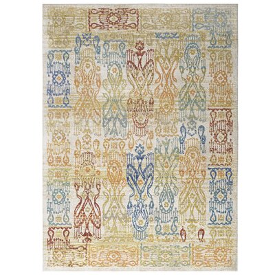 Donaldson Distressed Oriental Aztec Gold/Blue Area Rug Rug Size: Rectangle 5 x 8