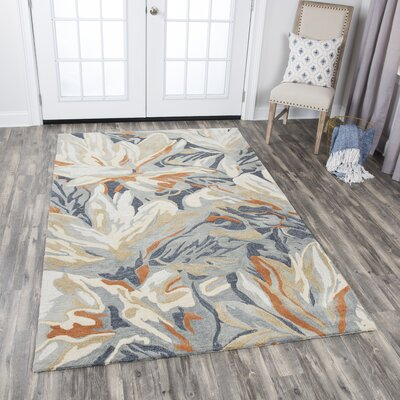 Gomes Hand-Tufted Beige Area Rug Rug Size: Rectangle 5 x 8