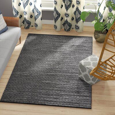 Erik Hand-Woven Light Grey/Grey Area Rug Rug Size: Rectangle 5 x 8