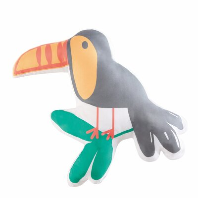 Hollowell Hanging Out Toucan Throw Pillow
