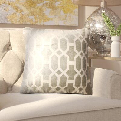 Kerra Geometric Throw Pillow Color: Gray