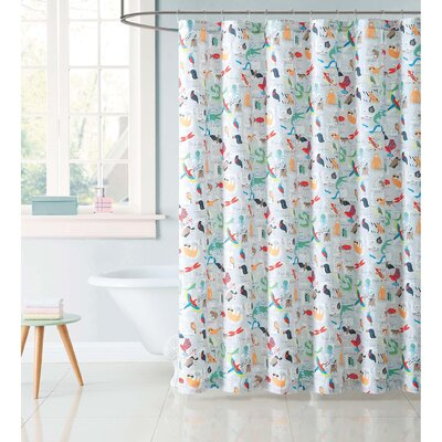 Hollowell Animal Alphabet Shower Curtain