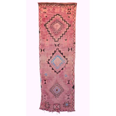 One-of-a-Kind Boujad Moroccan Hand-Knotted Wool Light Pink Area Rug