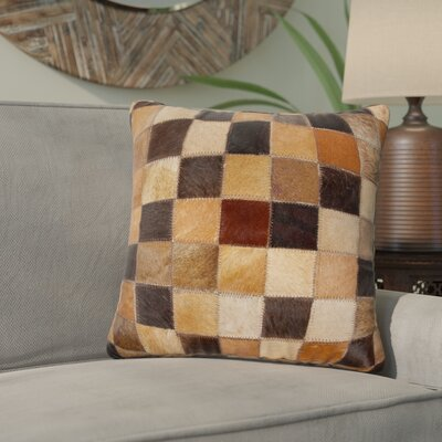 Graham Leather Throw Pillow Color: Black/Brown