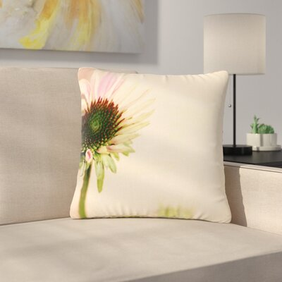 Sylvia Coomes Flower Blush Floral Outdoor Throw Pillow Size: 18 H x 18 W x 5 D