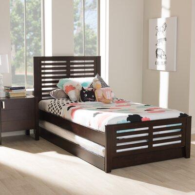 Orient Park Sarah Twin Platform Bed Color: Dark Brown