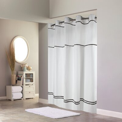 Humes Shower Curtain Color: Gray/White