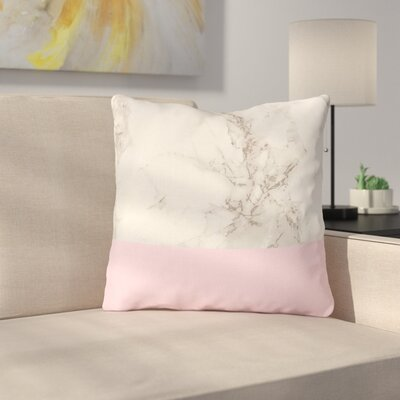 Marble by Suzanne Carter Throw Pillow Size: 20 H x 20 W x 4 D, Color: Pink