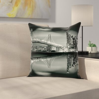 San Francisco Square Pillow Cover Size: 18 x 18